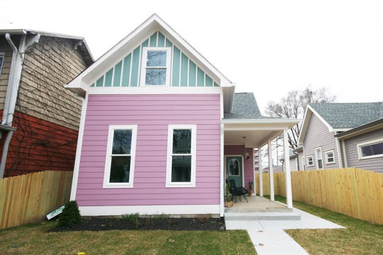 """This home in the Fountain Square neighborhood of Indianapolis was completely renovated in May 2018 on HGTV's """"Good Bones."""""""