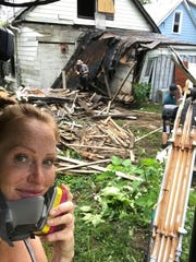 """Mina Starsiak-Hawk is one half of the mother-daughter duo working to renovate homes in a southeast Indianapolis community on HGTV's """"Good Bones."""""""