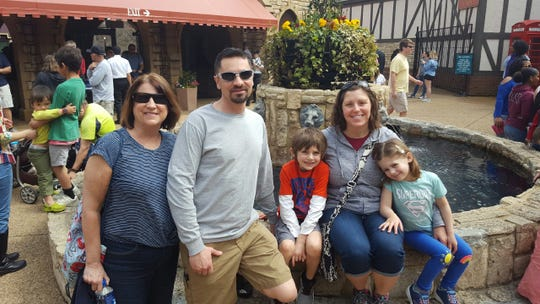 Jeremy Fleck and his family at Busch Gardens in Virginia. The Flecks had to buy tickets on Delta after Southwest Airlines canceled their flight from Seattle to Norfolk, Virginia, for a spring break trip.