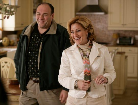 "James Gandolfini and Edie Falco star in the final season of ""The Sopranos."""