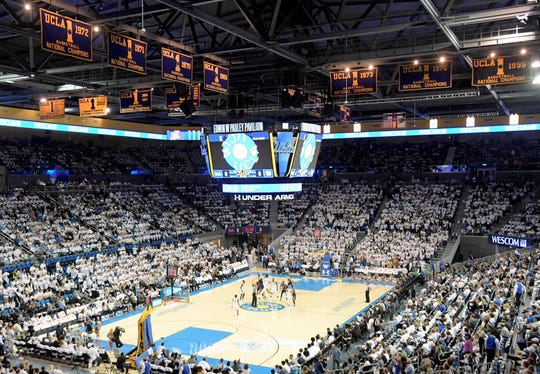 A general view of Pauley Pavilion during UCLA's game against Notre Dame on Dec. 8, 2018.