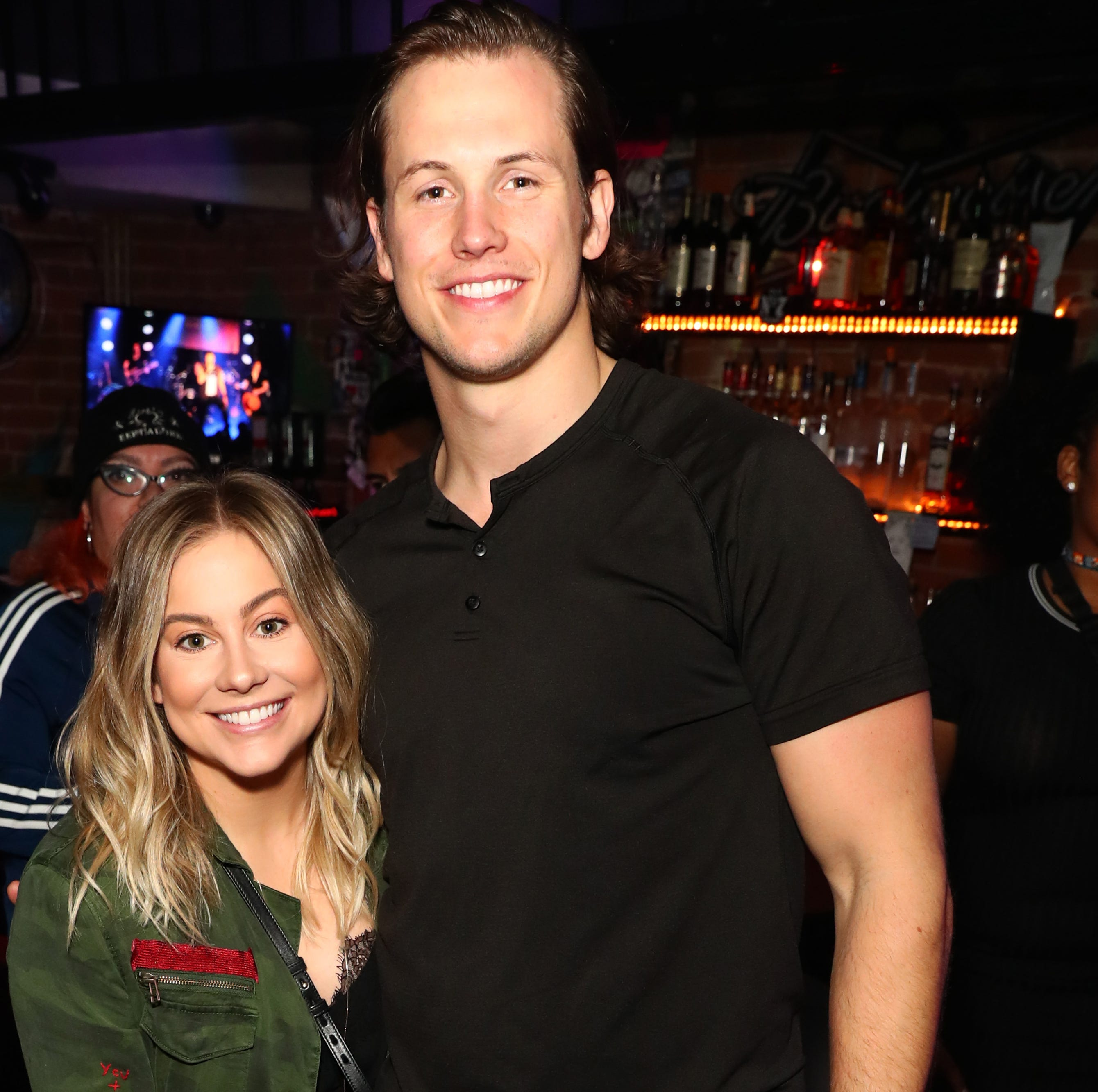 Shawn Johnson and Andrew East attend Bohemian Rhapsody's Get Loud Extravaganza at Whiskey a Go Go on February 12, 2019 in Los Angeles, California.