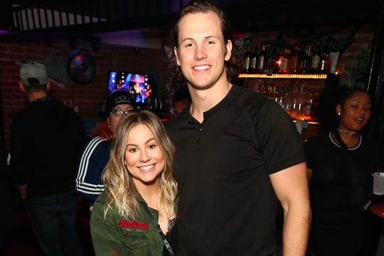 Shawn Johnson and Andrew East attend Bohemian Rhapsody's Get Loud Extravaganza at Whiskey a Go Go on Feb. 12, 2019, in Los Angeles.