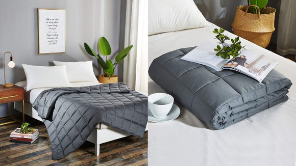 Get snug with this popular weighted blanket.