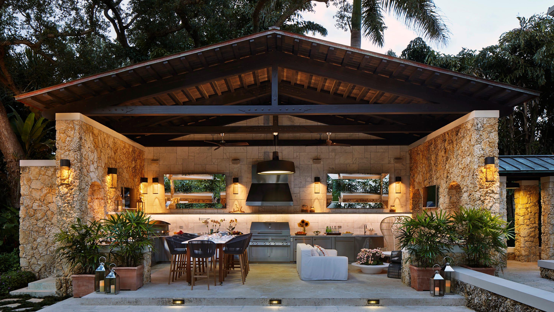 backyard kitchen design on Backyard Yard Design id=22176