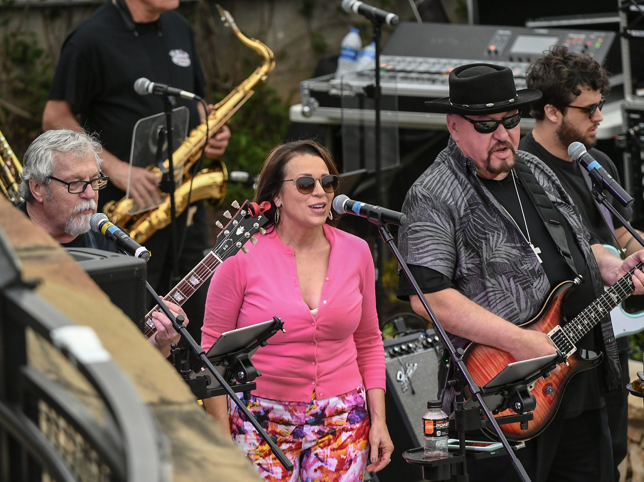 The Combo Kings played music, people danced, and Foothills Alliance had a walk for men in high heels to bring awareness to National Sexual Assault Awareness Month during the Main Street Program Block Party at Carolina Wren Park in downtown Anderson Thursday.