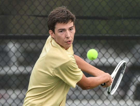 TL Hanna three-seed William King defeated Greenwood's Hump Goldman during a match in Anderson Thursday.
