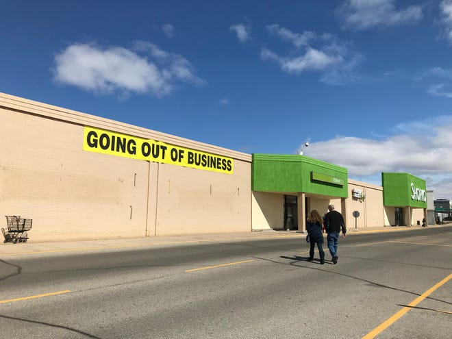 Shoppers check out the going-out-of-business sale at Appleton's Shopko on Northland Avenue.