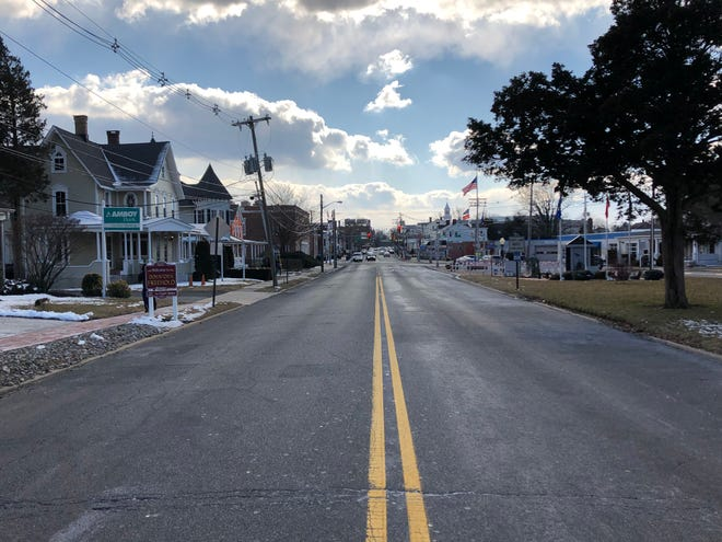 E. Main Street in Freehold Borough. To the right, children have grown up to thrive. To the left, they have grown up to struggle.