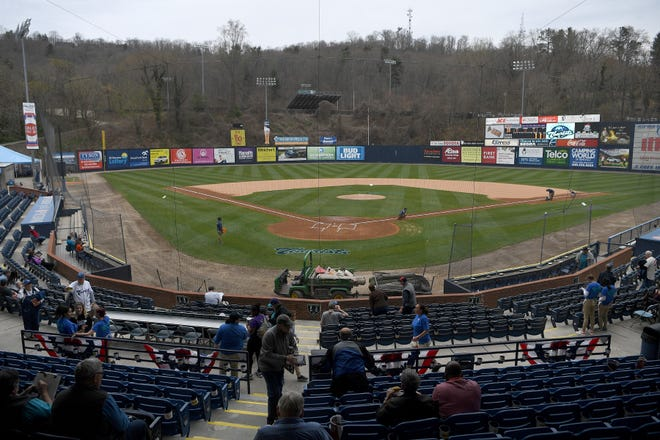 The Asheville Tourists started their 2019 season at McCormick Field with a Thirsty Thursday on April 4, 2019.