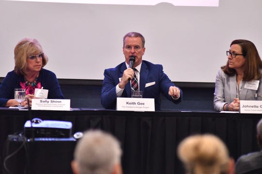 "LEAD Brevard and FLORIDA TODAY held a community leader conversation at the Holiday Inn Melbourne Viera Conference Center with the theme ""One paycheck away: Who is Alice?"" about the at-risk population of Brevard."