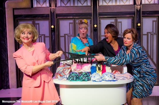 "The Paramount Theatre in Rutland presents two performances April 28 of ""Menopause the Musical."""