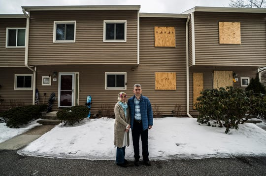 Murat and Reyhan Gungor live next to Unit D5 in Stonehedge Condominiums in South Burlington.