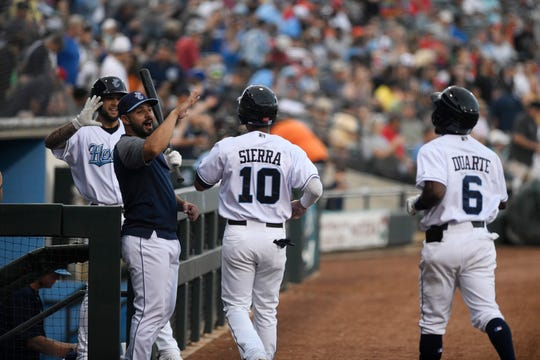 The Corpus Christi Hooks have their opening day game against the Amarillo Sod Poddles on Thursday, April 4, 2019, at Whataburger Field .