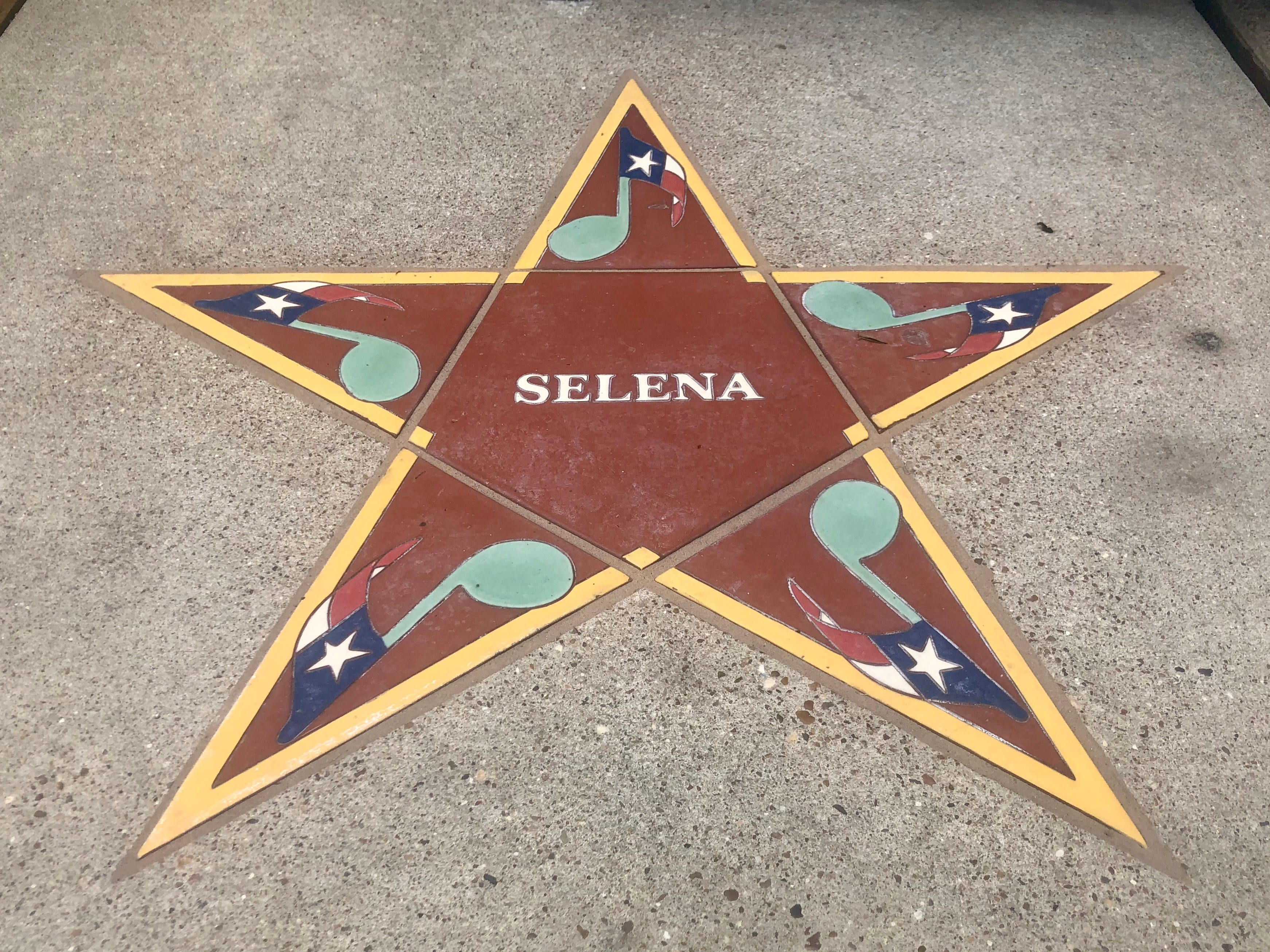 Selena's star at the South Texas Music Walk of Fame.