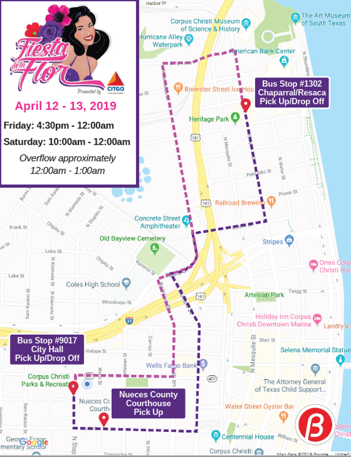 The fifth annual Fiesta de la Flor will offer free bus rides to and from the Selena-themed festival April 12-13.