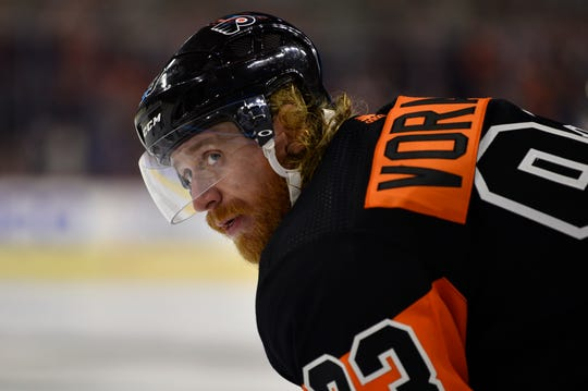Jake Voracek and the Flyers won't be in the playoffs again this season. The team hasn't won a postseason series in seven years.