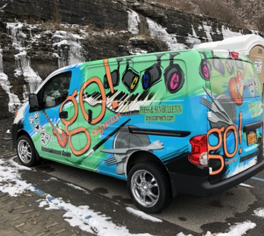 Police are seeking a distinctive van, being used by the Courier-Post, that was stolen from outside a Gloucester Township Wawa early Friday.