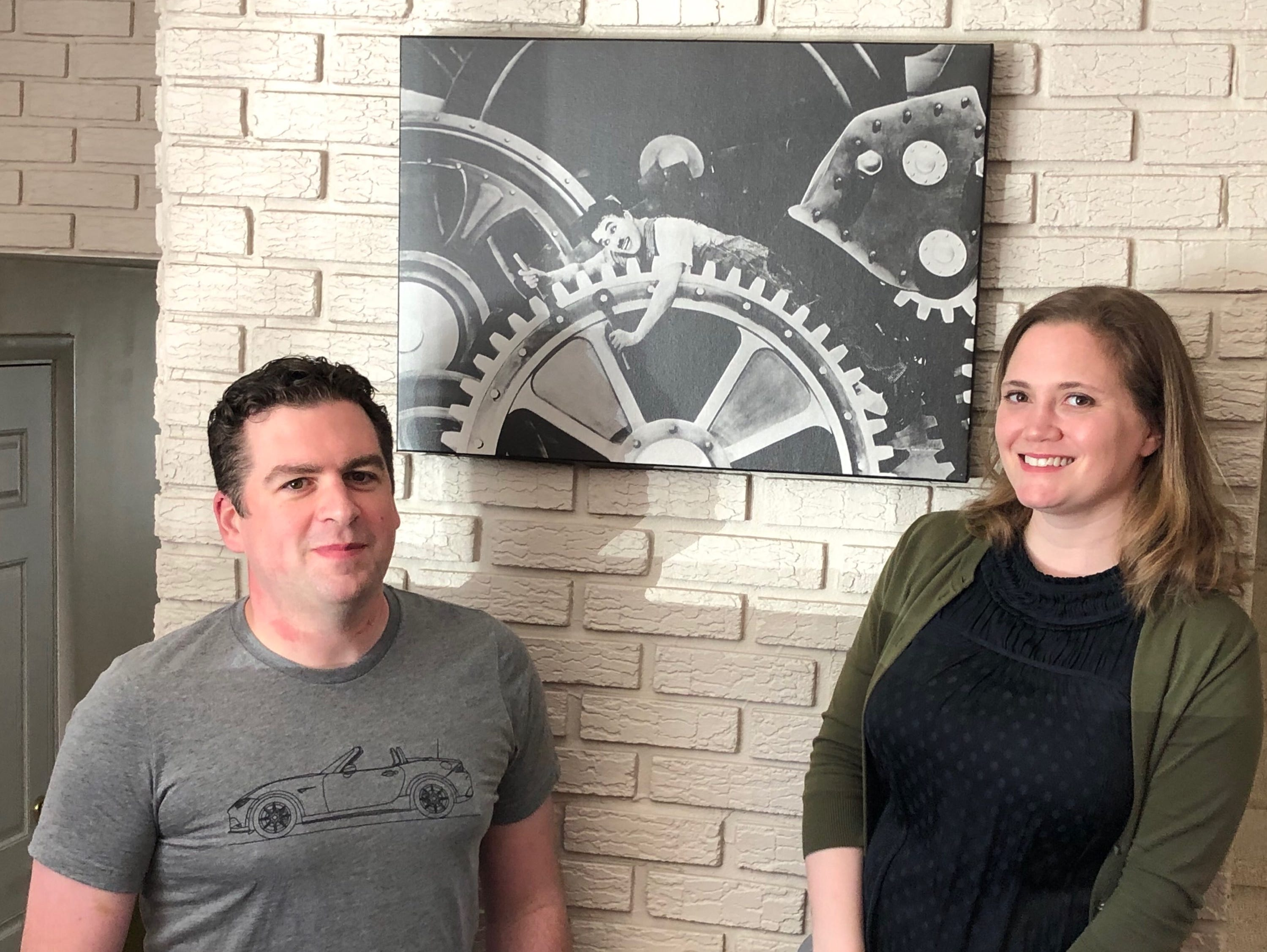 "Jonathan and Alex Chapman have decorated their Cherry Hill home with art from old movies, such as Charlie Chaplin's 'Modern Times.' Jonathan won a contest to be a 'guest programmer' on Turner Classic Movies to dedicate ""High Society' to his wife."