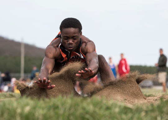 Cody Remington won the long jump, reaching 21 feet, 6 inches at the Miami Trace Invitational on Thursday.