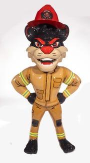 Name: Fire Fighter Bearcat Location: Cincinnati Firefighter Museum - Downtown Cincinnati Artist: Eric Cooper