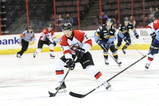 Cincinnati Cyclones forward Myles Powell.