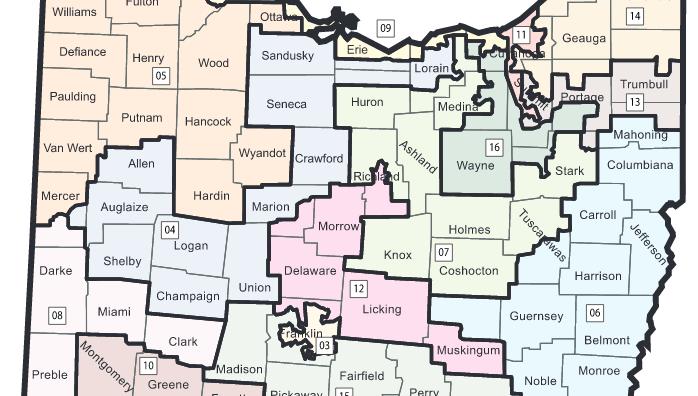 Ohio congressional district map 2012-2022