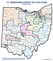 Ohio congressional district map 2012-2022
