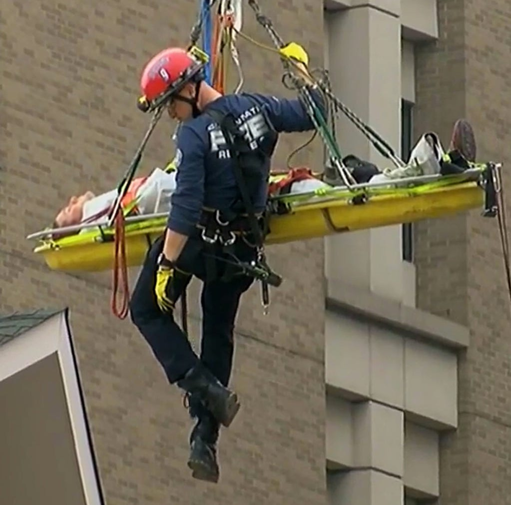 Crane operator rescued after suffering partial arm amputation