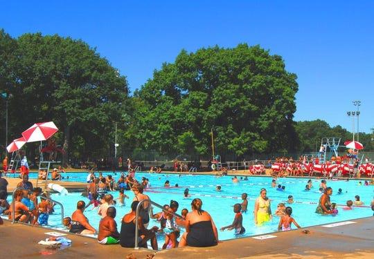 Walter Ulrich Memorial Pool at Rahway River Park in Rahway.