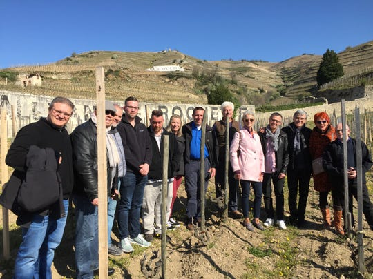 Michael LaValle and the chef judge delegation from Des Moines enjoyed a tour and tasting at Rhone Valley Chapoutier Winery with picnic in Hermitage Vineyards while in France for the week during the Cuisiniers de la Loire Trophy Contest, a student cooking competition.