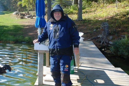 Paul Strome on a fishing trip in Ontario, Canada.