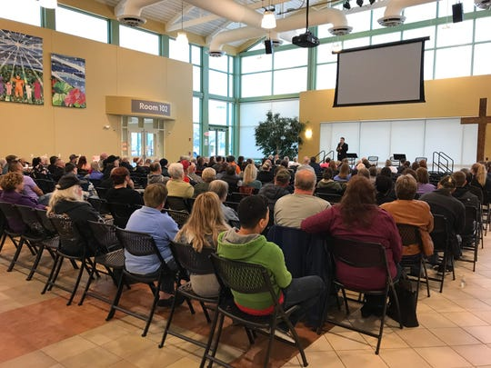 More than 100 people gathered Thursday evening at Lutheran Church of Hope Waukee to learn about their options as the new owners of a Waukee mobile home park plan to increase the rent by 69%.