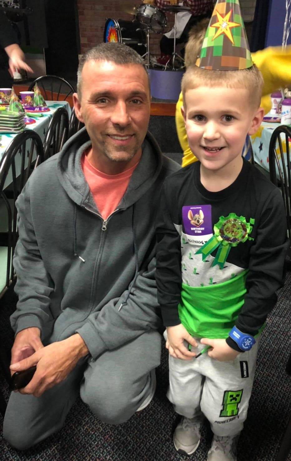 Daniel Clark, with his 5-year-old son Nicholas Clark.