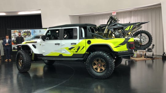 The Jeep Gladiator Flatbill concept's looks and colors were inspired by dirt bikes.