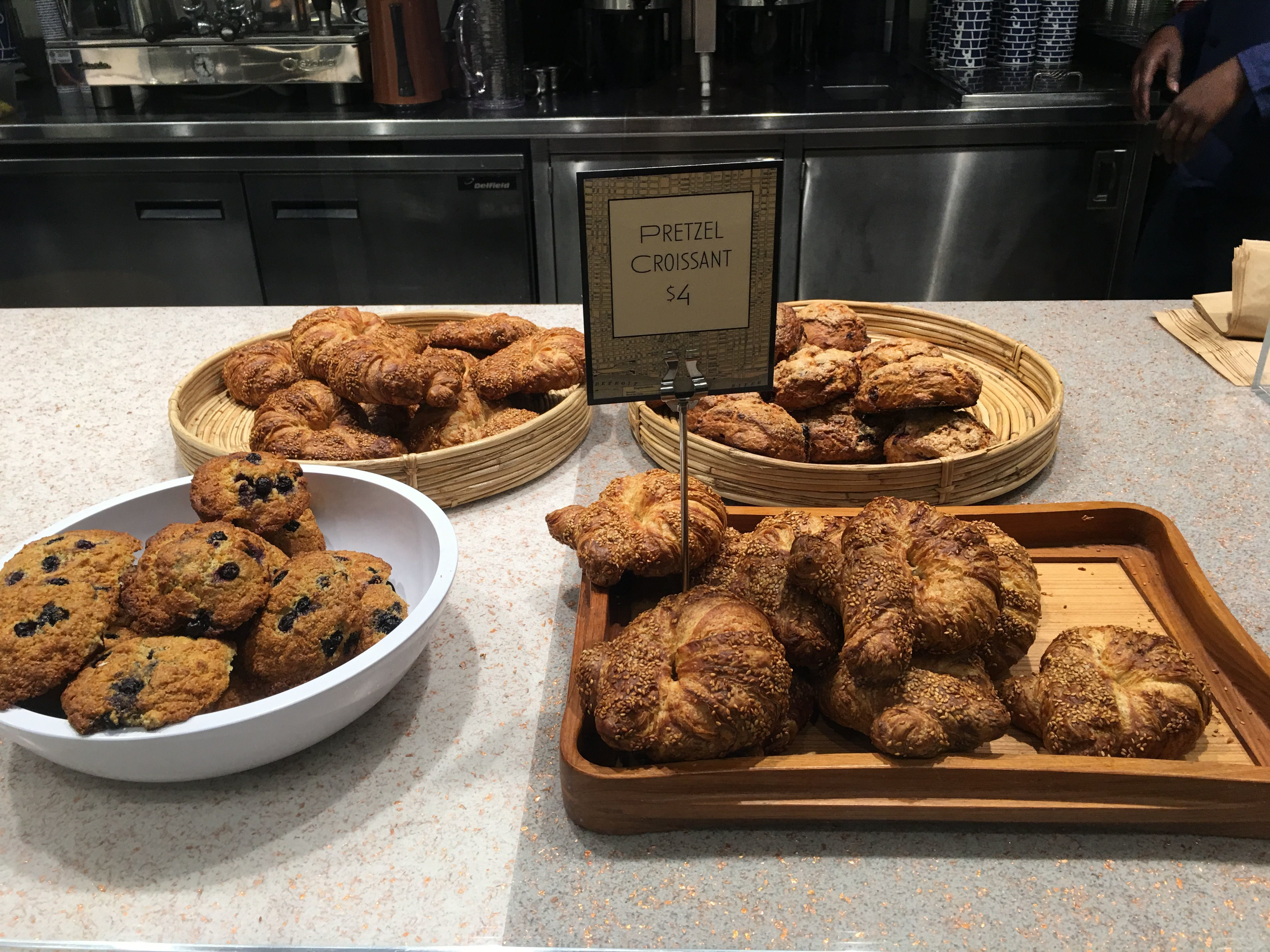 City Bakery has a plenty of baked goods including pretzel croissants.