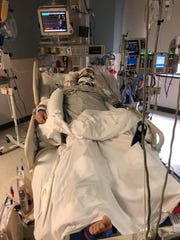 Electrician Daniel Clark, 42, of Westland was injured while working on I-75 in Troy on Wednesday, April 3, 2019. A co-worked backed into him with a vehicle and Clark faces a number of internal injuries, his family has set up a GoFundMe campaign for support.