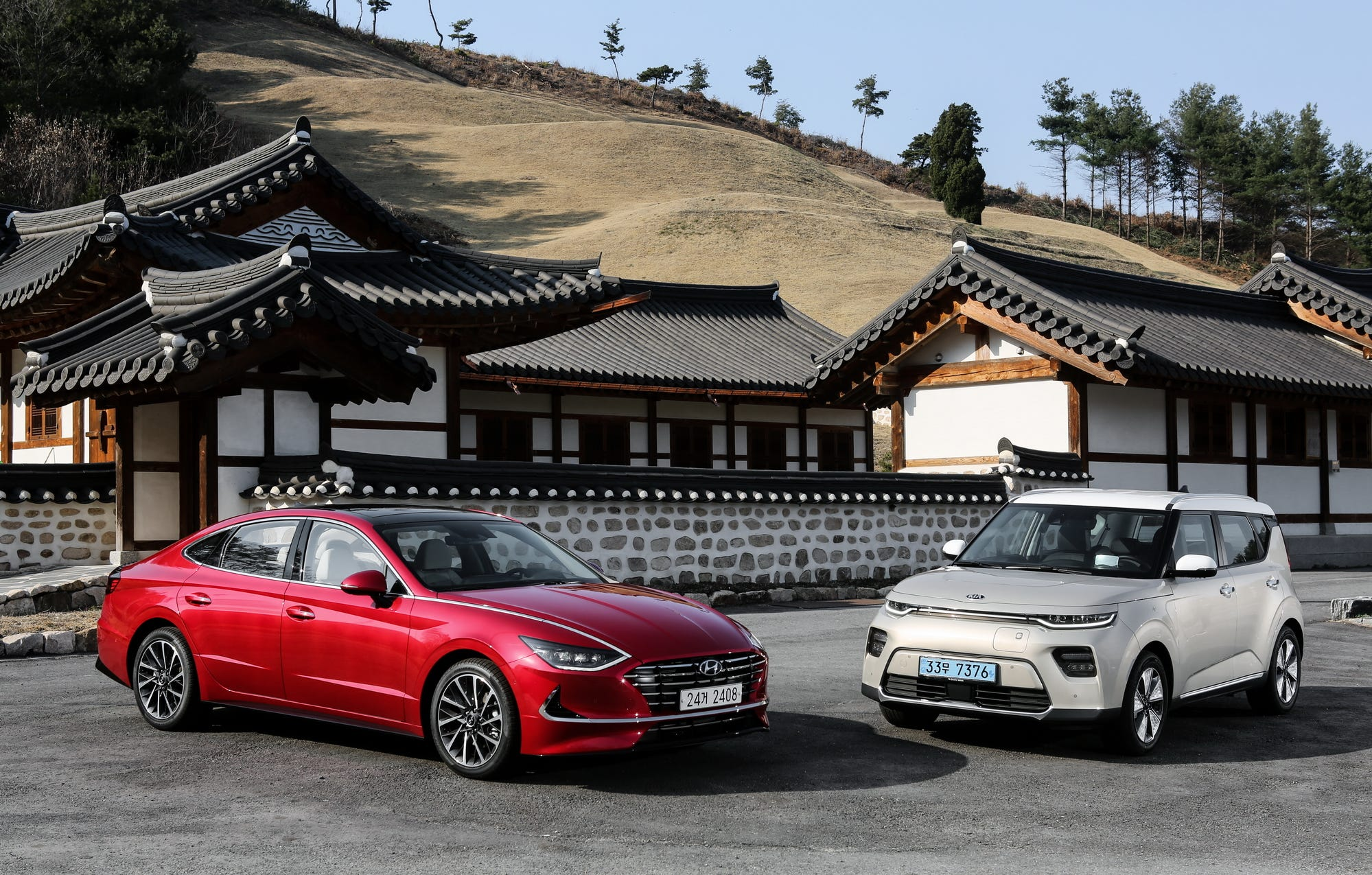 The 2020 Hyundai Sonata, left, and 2020 Kia Soul EV both take big steps forward; the Sonata with its adventurous design and the Soul with its more powerful battery.