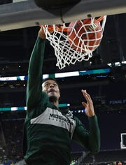 Forward Xavier Tillman is averaging 13.8 points and 8.1 rebounds in Michigan State's last 12 games.