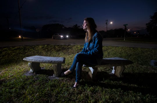 Cape Coral resident Melissa Shollack was so moved after learning about Layla Aiken's hit and run death last month, that she decided to place benches on her property to allow students waiting for the bus in the mornings to sit away from the dangerous roadside.