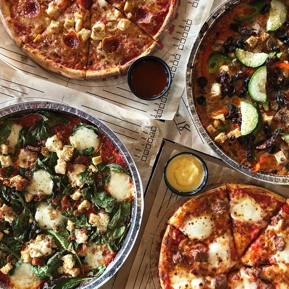 Here's how to score free pizza and cake in Greenville this week