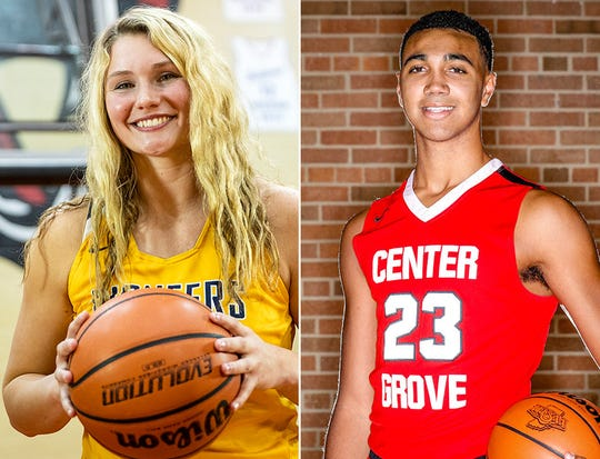 Elise Scaggs (left) and Trayce Jackson-Davis (right) will be among the players participating in Saturday's North/South Classic.