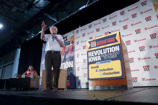 Bernie Sanders, I-VT, speaks at Iowa CCI annual Convention on Sunday, July 16, 2017 in Des Moines.