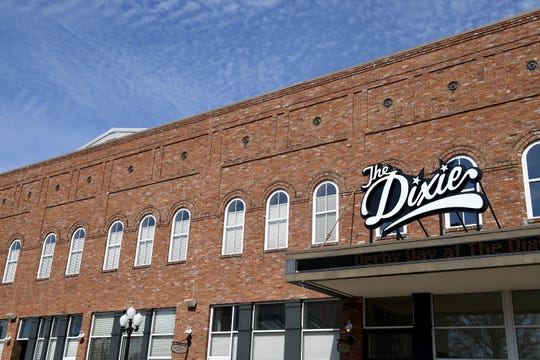 The new sign for The Dixie Performing Arts Center was added to the marquee, April 2. The design was created by former Huntingdon High School student Tia Compton last school year.