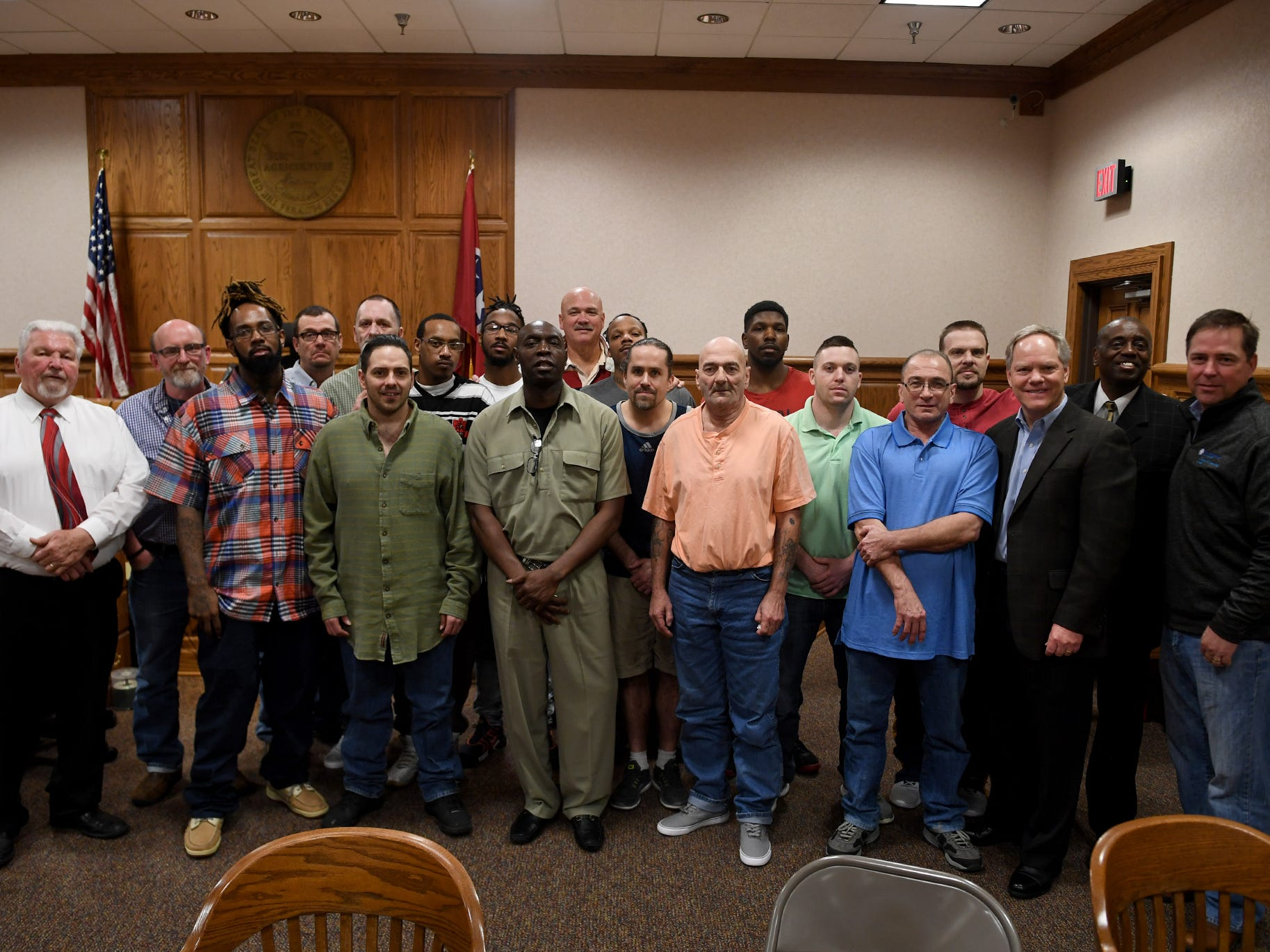 14 Madison County Jail inmates received certificates from the Life's Healing Choices Program, Friday, April 5. The 8-week program is sponsored by Celebrate Recovery Ministry.