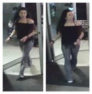 The Jackson Police Department is asking the public for help in identifying this woman, who is a person of interest in the investigation of a recent robbery at Tap in Jackson.