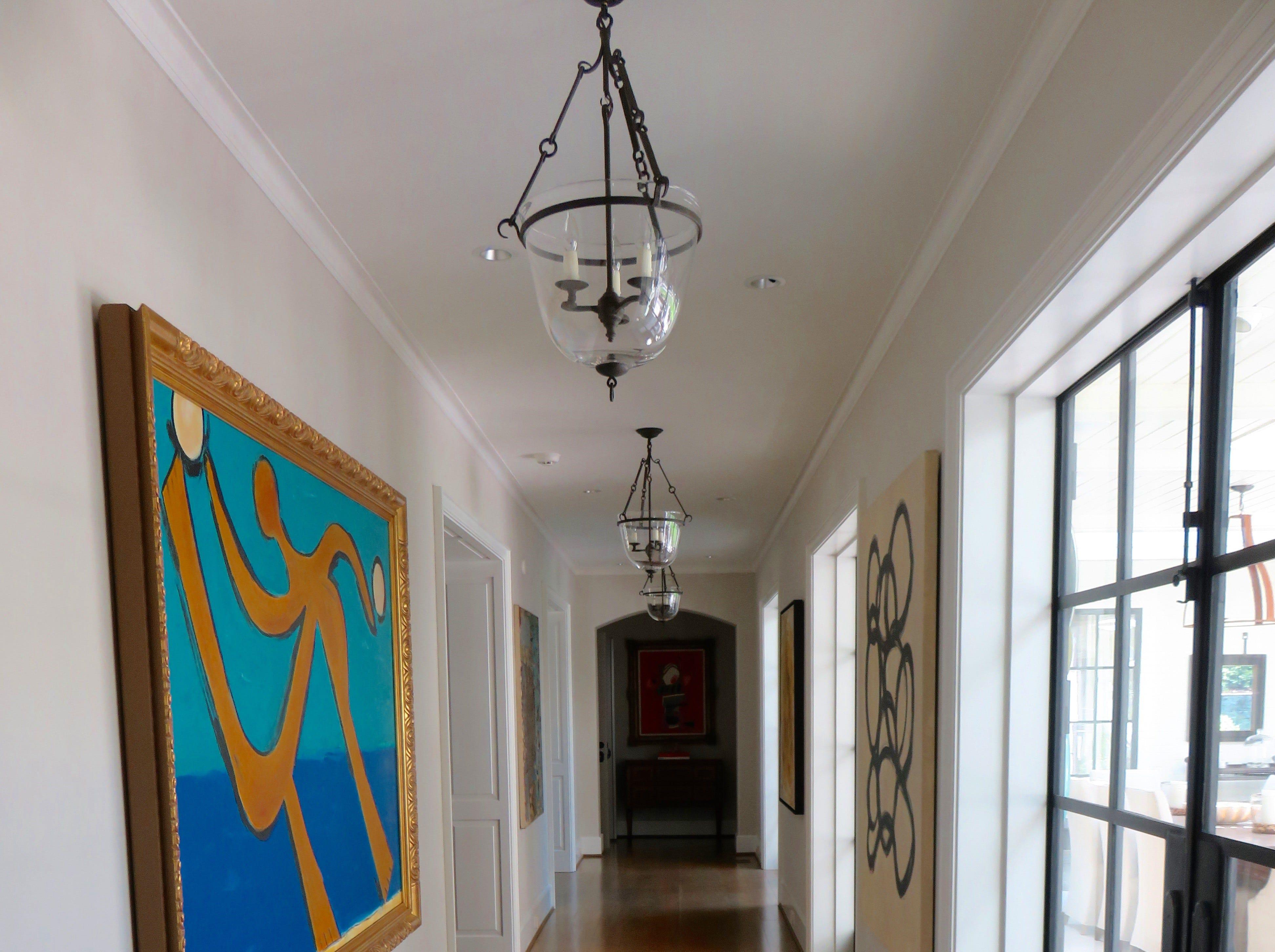 The gallery hallway leads to the veranda.
