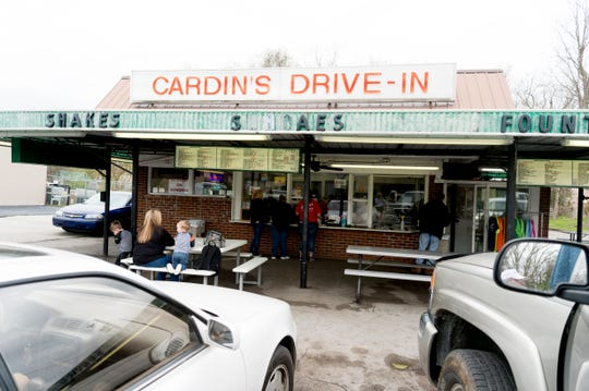 Cardin's Drive-In on Asheville Highway in Knoxville, Tennessee on Friday, April 5, 2019. The popular drive-in is celebrating 60 years of business this Saturday with sixty cent ice cream cones.