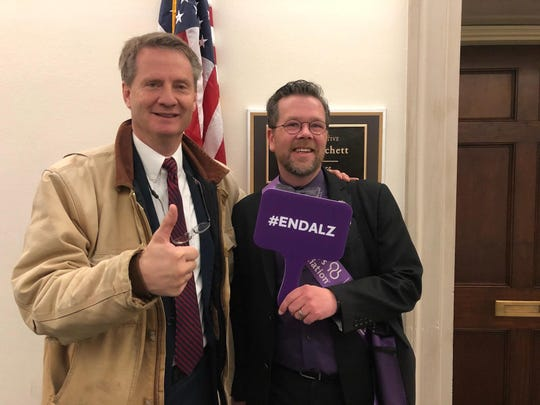 U.S. Rep. Tim Burchett and Darron Kidwell in Washington at an Alzheimer's awareness event, March 2019. Kidwell said his meeting with Burchett was especially meaningful, and the former Knox County mayor seemed very supportive.