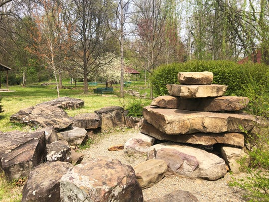 An upcoming project at Fountain City Park will be to restore this water feature and enhance the space for yoga and meditation.